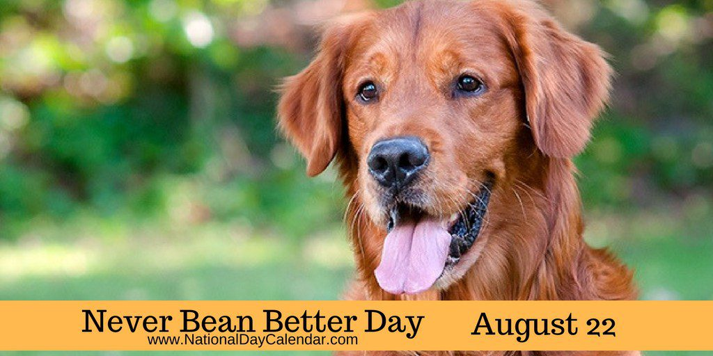 NEVER BEAN BETTER DAY -- August 22